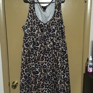Torrid leopard print skater dress